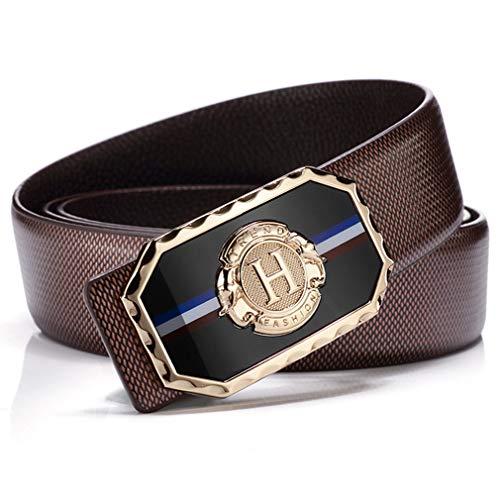 Cinturón Para Hombres, 100% Cuero Genuino de Grano Completo, con Hebilla Anti-rasguños, con Elegante Caja de Regalo, Traje Para Jeans & Ropa Casual & Ropa Formal