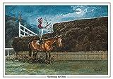 """macroelemento lasposibilidad"" Por Thelwell. Carreras de caballos o punto a punto medinc belemnita. Grandes A5 tamaño. Regalo perfecto para los amantes del caballo."