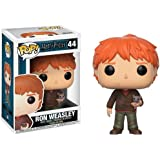 Funko Figurine Pop Vinyle-Harry Potter-Ron Weasley with Scabbers, 14938, Multicolore, Standard