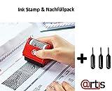 Identitätsschutz, selbstfärbender Datenschutz-Rollstempel, versteckt/überschreibt Informationen Stempel & Nachfüllpack