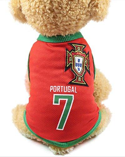 386c8730f FishBabe Chien Coupe du monde de football T-shirt Pets Maillot de football Sports  Soccer