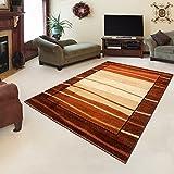 "Rug ROYAL Brown Modern Design Best Price High Quality Living Room S - XXL Mosaic Leaves Pattern 110 x 265 cm (3ft8"" x 8ft9"")"