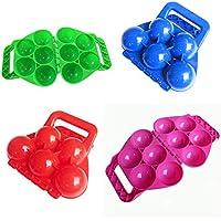 39e4612d97 Lulalula - Juego de 2 pelotas de nieve para hacer 5 bolas de nieve a la vez  – Invierno al aire libre juguetes de nieve para niños y adultos