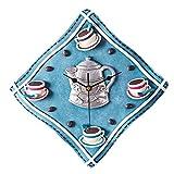 GBYZHMH Creative Cartoon tasse à café Théière Couleur Modélisation Nappe Horloge murale décoration mode Personnalité Salon Chambre à coucher ménage cadran d'horloge Diamètre 12 cm