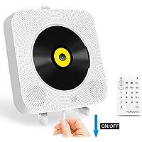 Radio mit CD-Player Boombox Stereo Lautsprecher Bluetooth mit Fernbedienung kompatibel mit USB-Stick / 3,5-mm-Cinch-Klinke-AUX-Ausgang, USB-Netzbetrieb, Geschenk Idee, weiß, 18.5x18.5 cm