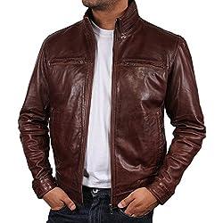 Brandslock Para hombre del motorista del cuero del diseñador Bombardero capa de la chaqueta