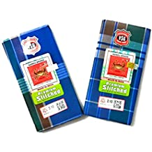 Nandu Men's Cotton Stitched Lungi (Mixed Colour, Free Size) - Pack of 2