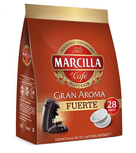 Café molido de tueste natural en monodosis. Marcilla Gran Aroma 'Fuerte' - [Pack de 5]