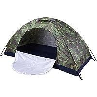 Himanjie- Tenda da Campeggio 4 Posti verde Militare Apertura Automatica, Tenda Apertura Istantanea 4 Persone Mimetica, Tenda Impermeabile Antivento Portatile