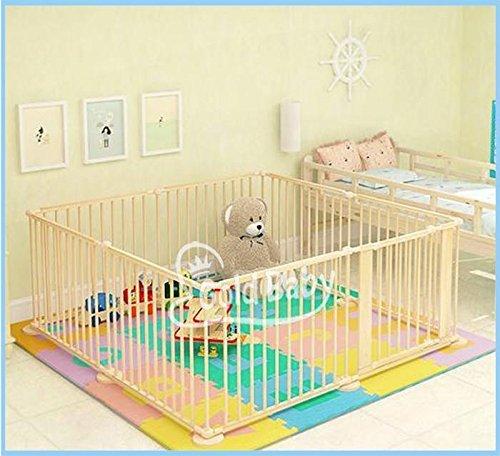Star Ibaby Natural   Parque de bebés XL, 8 piezas