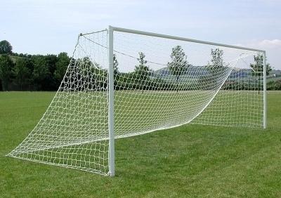Fußballtornetz, Tornetz 7,32 x 2,44 m - 2,5 mm, weiß