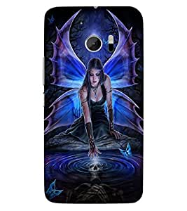 ColourCraft Lovable Angel Design Back Case Cover for HTC ONE M10