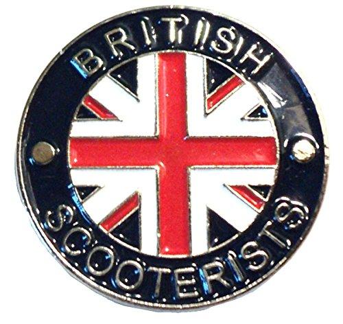 British Scooterists GB Union Flag MOD Scooter Metal (Metal-heads Union)