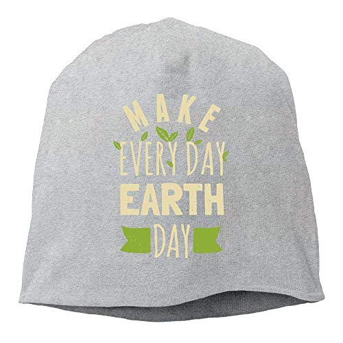 Jxrodekz Beanie Hat Baseball Cap Male/Female Make Everyday Earth Day Cotton Skull Cap 00565 Oversized Wool Cap