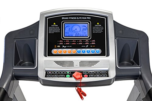 51vmobTNSUL - Branx Fitness Foldable 'Elite Runner Pro' Soft Drop System Treadmill - 6.5HP Motor 0-22 Level Auto Incline - 'Dual Shock 10-Point Absorption System