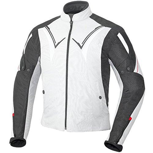 Büse Kingston-tessile giacca estiva, Uomo Donna, argento/nero,