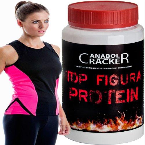 Top Figura Protein, 400g reines Whey !! Diät / Fattverbrennung Eiweißpulver + Sport Muskel Trikot T-Shirt für Damen (S (36))