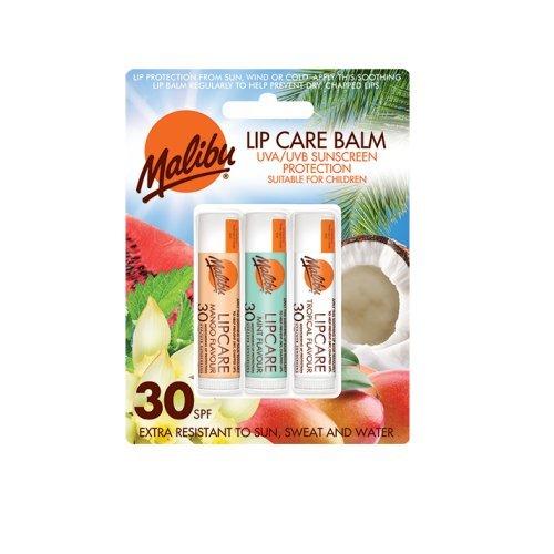 Care Lip Balm (MALIBU Lip Care Balm SPF 30 - Sonnenschtz Lippenpflege Balsam 3 Stifte)