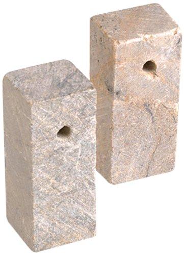 Efco Soapstone Blank Rectangular Cube with Hole, Neutral