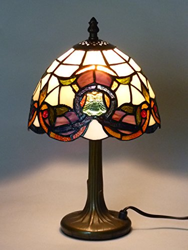 Lampen Tiffany-stil Lampen (Hochwertige Echtglas Tiffany Tischleuchte Cosima S, Lampe im Tiffany Stil Leuchte)