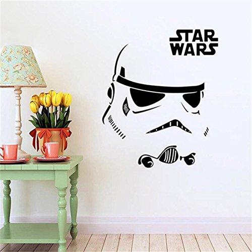 HerZii - Adhesivo decorativo del hogar para pared, diseño de Darth Vader de Star Wars