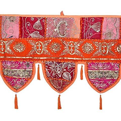 Puerta de la India Hanging Trabajo Patch vintage con encaje decorativo