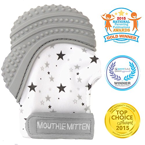 Mouthie Mitten – Mitten mitt teething silicone – different colored 51vmr9d3v8L