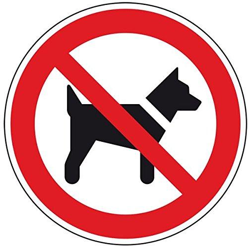 LEMAX Verbotsschild Mitführen von Hunden verboten,ASR/ISO,Aluminium,Ø 200mm