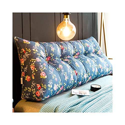 MH-Cushions Kissen, Bettkissen Großen Rücken Doppelbett Auf Tatami Bett Kopfteil Softbag Einfache Rückenkissen Dreieck Taille Kissen (Color : S, Size : 180x20x50cm) -