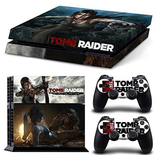 Lot de 2 films de protection d'écran pour manette Playstation 4 et 2 modèles Tomb Raider