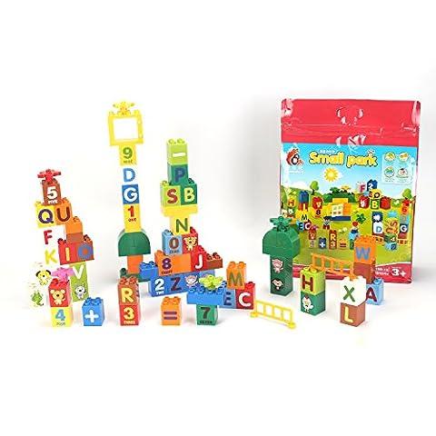 Bausteine und Gänge 78 Stück Bau Spielzeug Set für Kinder Kinder Jungen Mädchen