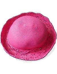 Strickmütze, mit Blumenmotiv und breiter Krempe für Sommer, Strand und Sonne Cap Mütze Bonnie NEU
