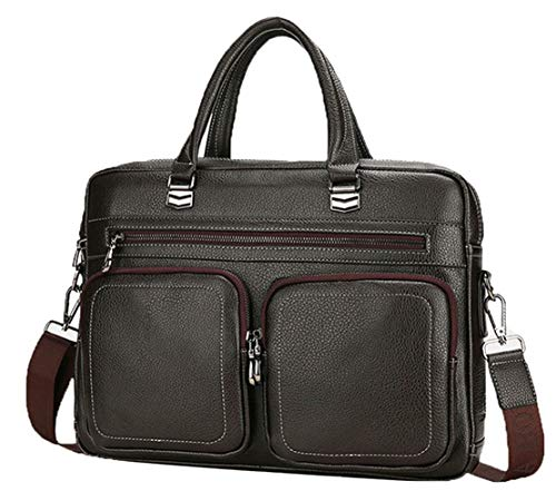 Asge Herren Ledertasche Vintage Handtasche Umhängetasche Leder Aktentasche Classic Messenger Bag a4 Arbeitstasche Männer Businesstasche Laptoptasche 15.6 Zoll -