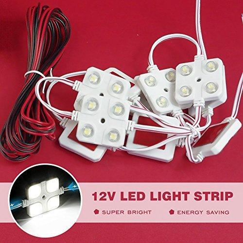 Lianqi 12V 10 x 4 LED Weiß Auto Innenlicht Deckenleuchte 5050 40SMD Panel Kit weißes Licht, für Wohnmobile, Van, Wohnmobil, Garage, Geländewagen, Boot, Schrank, Schuppen, Traufe