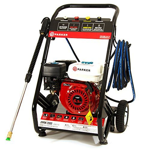 ParkerBrand Petrol Pressure Jet Washer - 6.5HP Engine - 2900 PSI