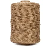 Tenn Well Jute Twine, Natural Thick Jute String 3Ply Jute Rope for Floristry, Gifts, DIY Arts&Crafts, Decoration, Bundling, Garden and Recycling (Brown, 500 Feet)