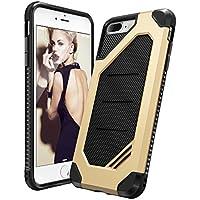Custodia iPhone 7 Plus, Ringke [MAX] Avanzata Dual Layer Heavy Duty Protection [Assorbimento di Scossa Tecnologia] Elegante Forza Armatura Resistente Coperchio di Protezione per Apple iPhone 7 Plus 2016 - Royal Gold