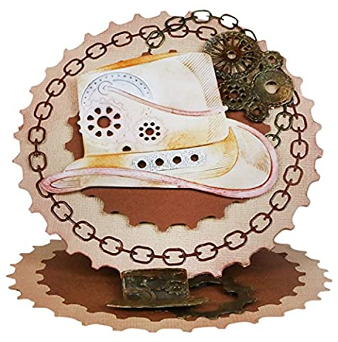 Tattered Lace Steampunk Hat, Silver