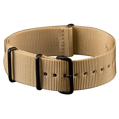 Infantry Uhrbänder NATO Strap Armband Natoband Uhrenarmband 22mm Uhrband Uhrenband Nylon Band Beige -