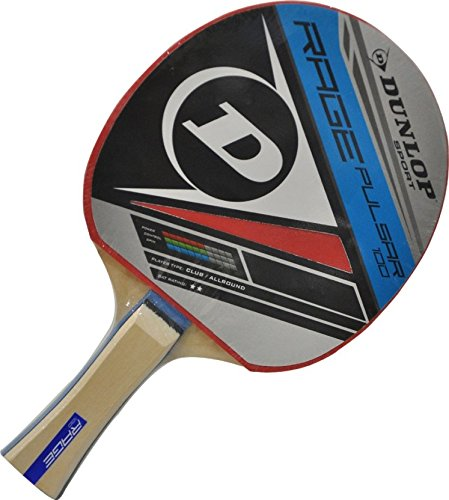 Dunlop 679208 Rage Pulsar Rubber Table Tennis Racquet, 10-inch (Multicolor)