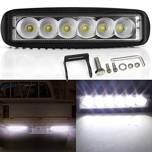 YuanGu 18W Faro LED Fuoristrada,Flood Faro LED Profondità Faro LED Auto 12 V 24 V Off Road Light Bar Impermeabile Nebbia Driving Lamp per auto camion barca SUV ATV