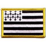 Écusson brodé Flag Patch France Bretagne - 8 x 6 cm