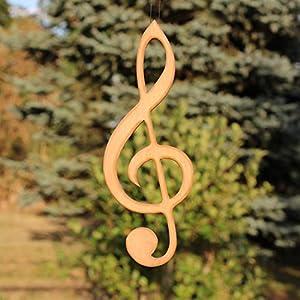 Fenster Deko zum Aufhängen   Violinschlüssel zum Aufhängen   Fensterschmuck   Violinschlüssel Fensterdeko   Geschenkidee