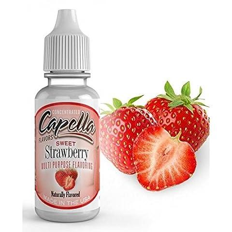 Arôme Sweet Strawberry - Capella Flavor - Sans tabac ni nicotine - Vente interdite au moins de 18 ans - Produit vendu à l'unité