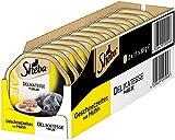 Sheba Adult Katzen-/Nassfutter, für Erwachsene Katzen Delikatesse in Gelee, mit Huhn, 22 Schalen (22 x 85 g)