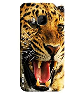 Omnam Tiger Face Annoyed Printed Designer Back Cover Case For HTC One M9