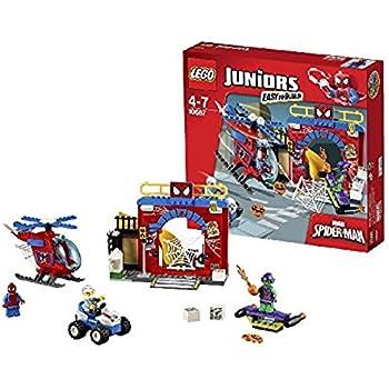 Lego 10687 - Juniors - Jeu de Construction - La Cachette de Spider-Man