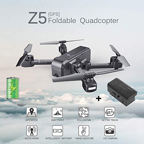 GPS FPV RC Drone GPS Ritorno a Casa Quadcopter One Key Decollo/Atterraggio Controllo App,Controllo Vocale 3D Flip Telecamera WiFi HD 720P Grandangolare a 110 °- Seguimi Altitude Hold