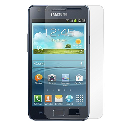 Conie 9H3298 9H Panzerfolie Kompatibel mit Samsung Galaxy S2/S2 Plus, Panzerglas Glasfolie 9H Anti Öl Anti Fingerprint Schutzfolie für Galaxy S2/S2 Plus Folie HD Clear