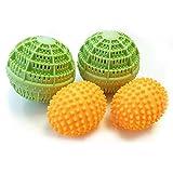 HC Handel 936195 - Set di 4 palle per lavaggio e asciugatura, pulite e morbide, senza prodotti chimici